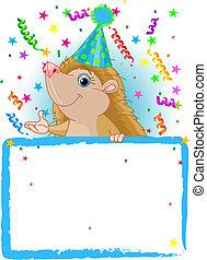 Baby Hedgehog Birthday - Adorable Baby Hedgehog Wearing A...