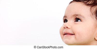 baby, het glimlachen gezicht