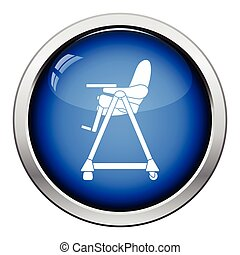 Baby high chair icon