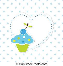 baby, hintergrund, mit, cupcake