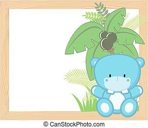 baby hippo frame