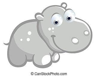 baby hippopotamus clip art vector graphics 680 baby hippopotamus rh canstockphoto com Baby Giraffe Clip Art Baby Orangutan