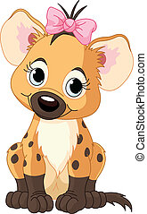 baby, hyena, meisje