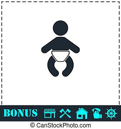 Baby icon flat