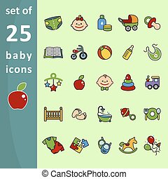 Baby icons for web