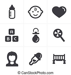 Baby  Icons Set, Vector Design
