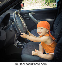 Baby in a car