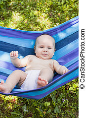 Baby in a hammock