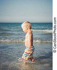 Baby in a sea