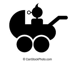 baby in a stroller symbol vector