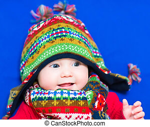 Baby in a winter hat