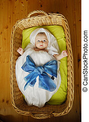 Baby in basket