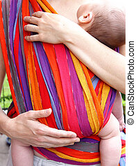 baby in belly cloth