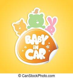 Baby in car sticker.