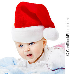 Baby in Christmas hats