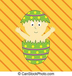 Baby in Easter Egg