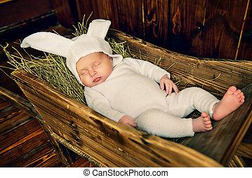 baby in rabbit costume