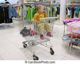 baby in shop