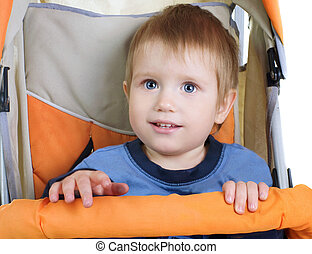 baby in sitting  the stroller