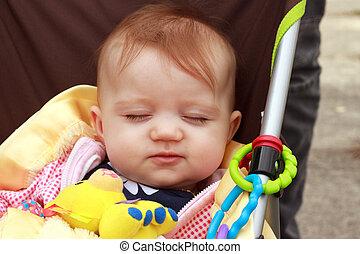 Baby In Stroller Smirk