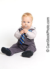 Baby in suit with tie