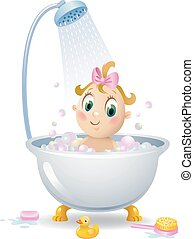 Baby in the shower