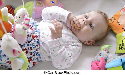 Baby is eating