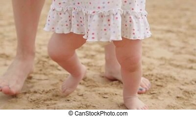 Baby is making the first steps