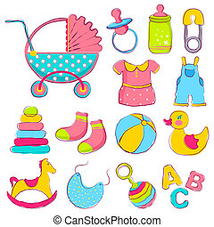 Baby Item - illustration of different item for baby...