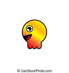 Baby jellyfish icon. Animal. Vector eps.10