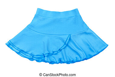 baby jersey light blue skirt isolated on white background