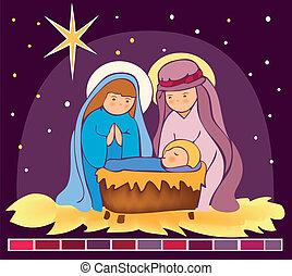 Baby Jesus in a manger 3 - Is a EPS 10 Illustrator file...