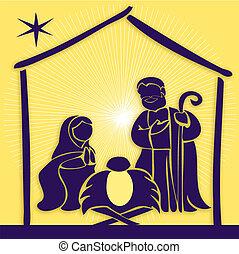 Baby Jesus in a manger 6