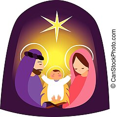 Baby Jesus in a manger vector 2 - It is a vector...