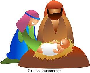 baby Jesus - nativity scene