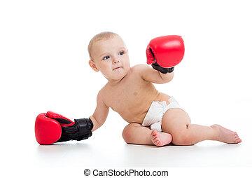 baby jongen, bokser