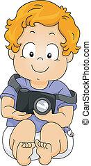 baby jongen, fotograaf