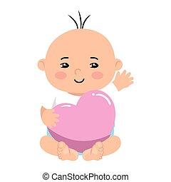 baby jongen, schattig, hart, weinig; niet zo(veel), liefde