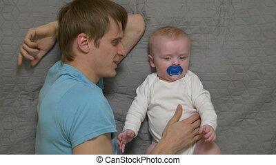 baby jongen, vader