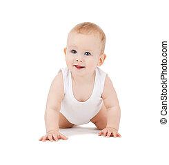 baby- junge, krabbelnd