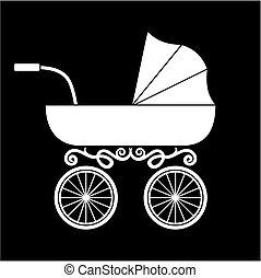 baby, kinderwagen, wagen, -