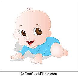 baby kruipen, vector