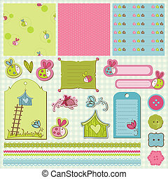 baby, ladybugs, scrap