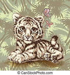 Baby lion illustration