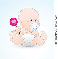 baby, lollipop