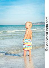 Baby looking sea