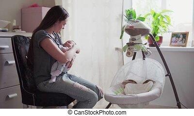 baby, lulls, moeder