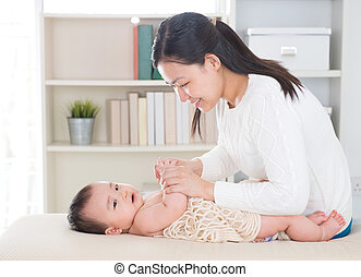 Baby massage.