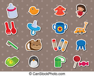 baby, materiale, stickers