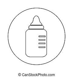 baby milk bottle icon illustration design